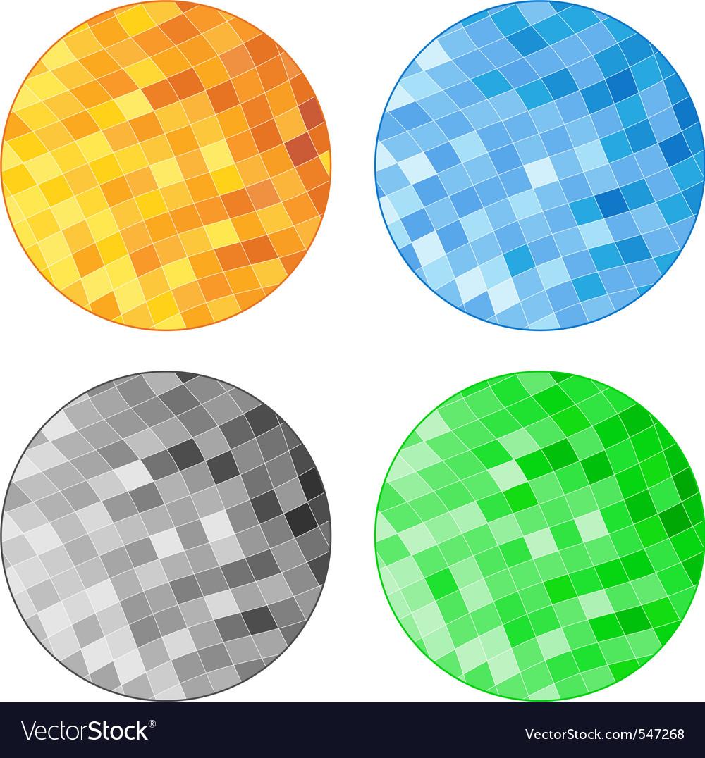 Abstract tile circles vector