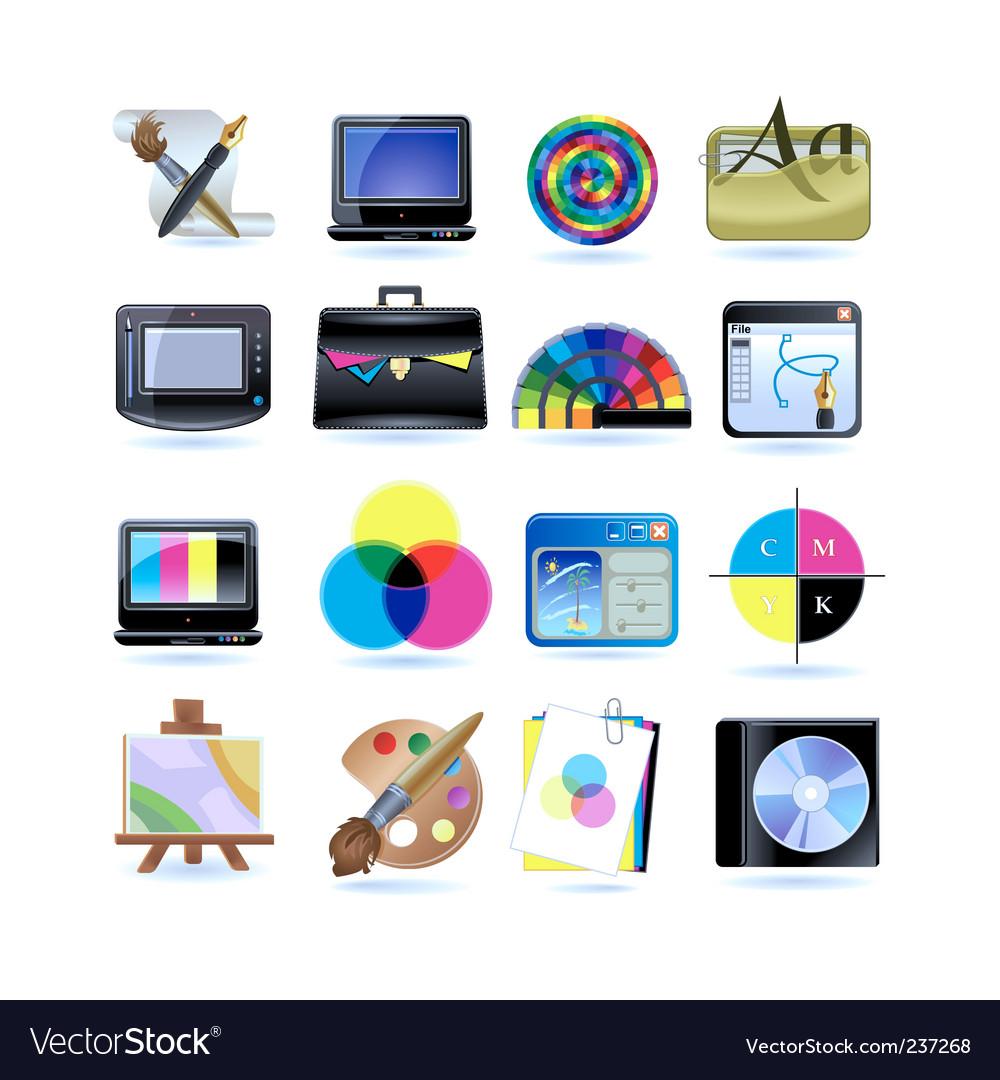 Graphic design icon set vector