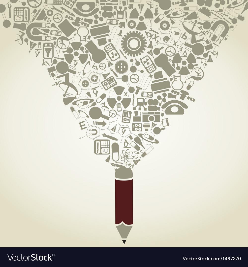 Science a pencil vector
