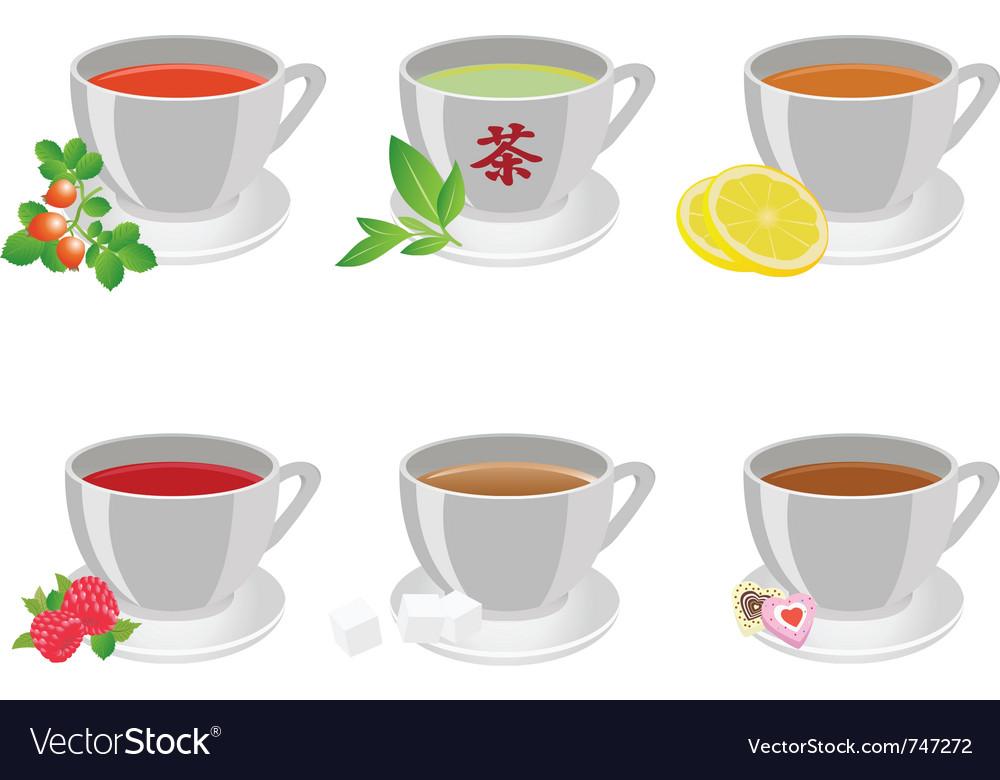 Tea cups vector