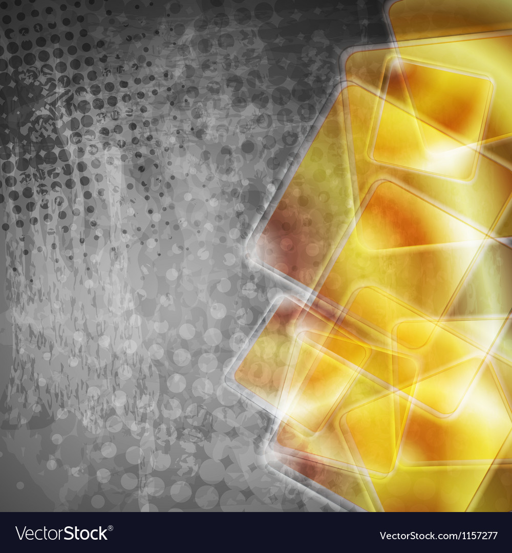 Abstract tech grunge background vector