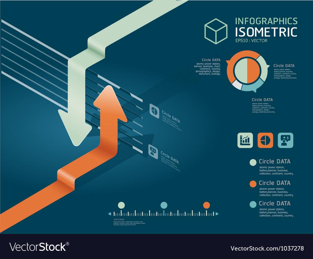 Infographic arrow diagram chart vector