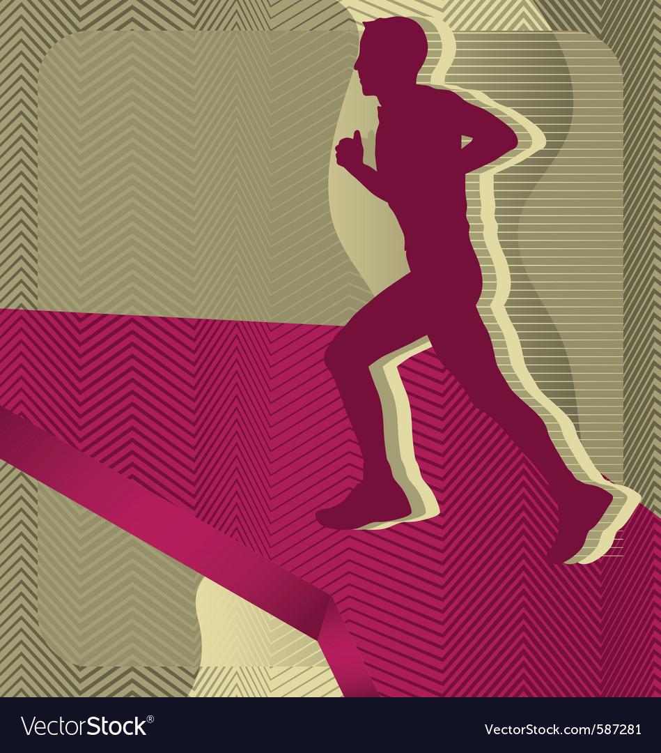 Sport background running vector