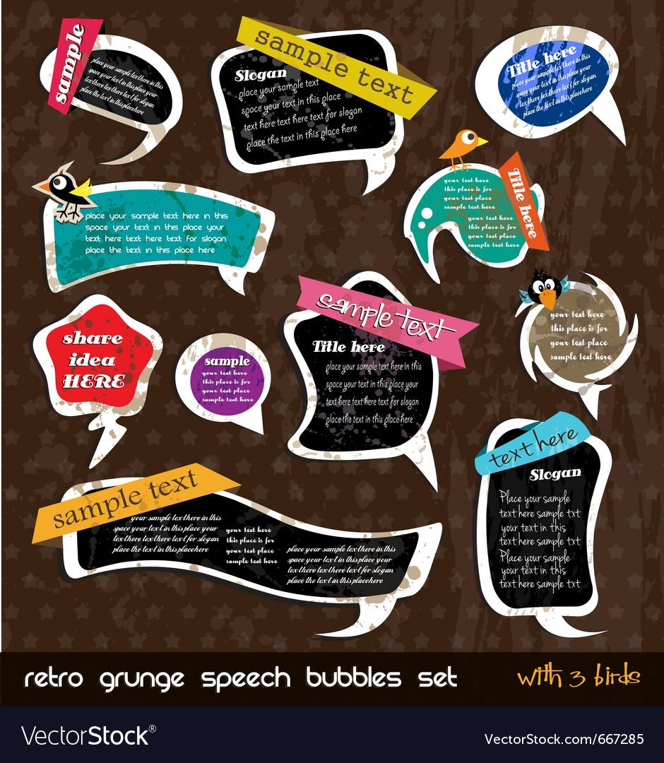 Retro grunge speech vector