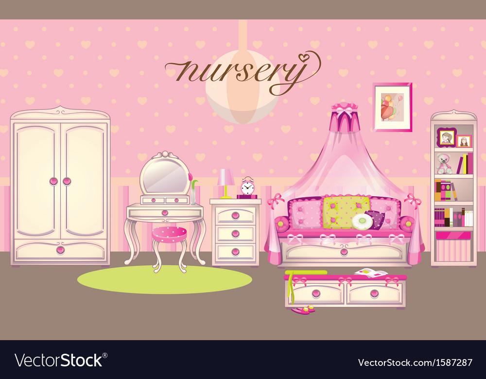 Girls room vector