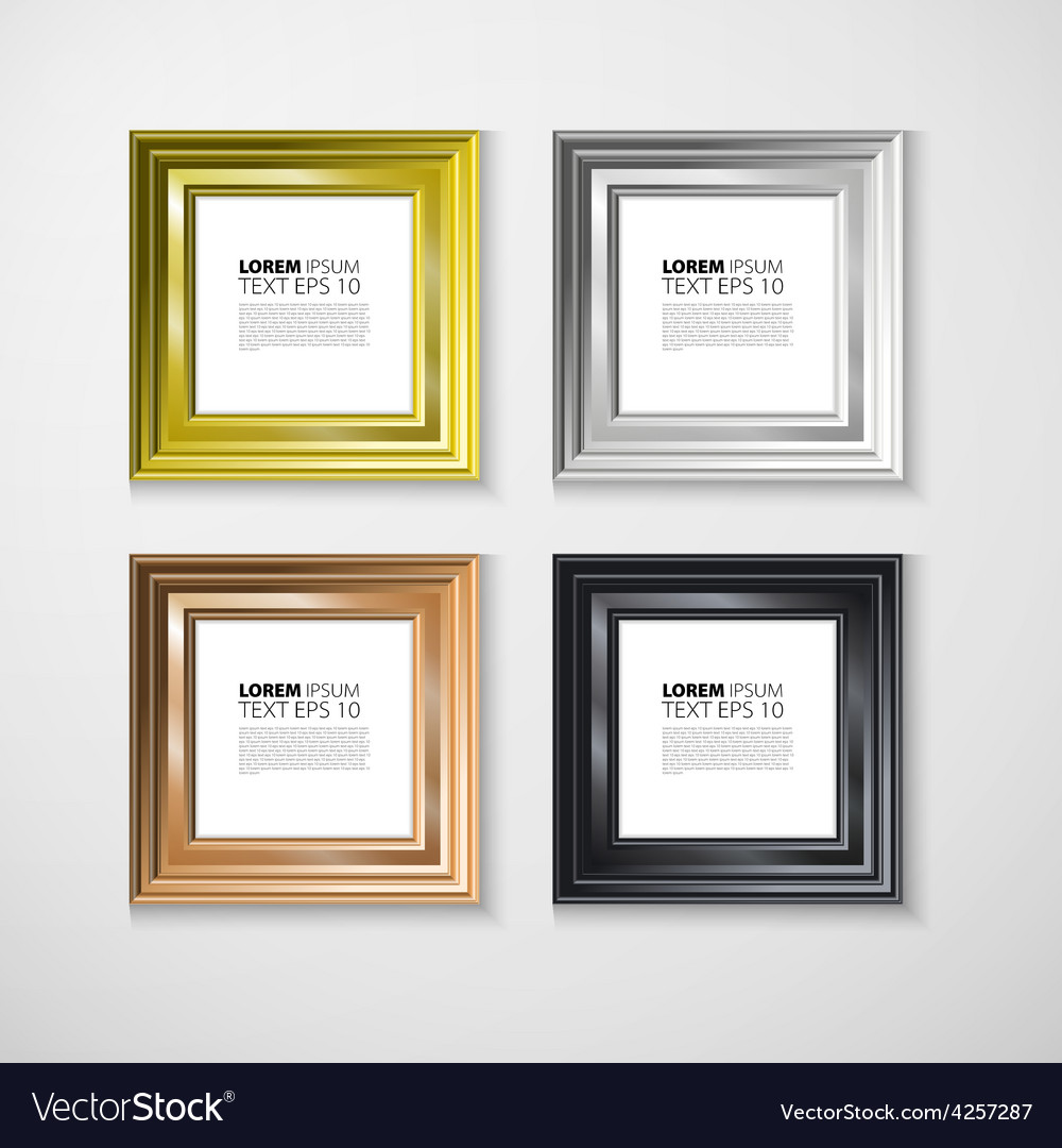 Picture frame photo art gallery vintage wall vector