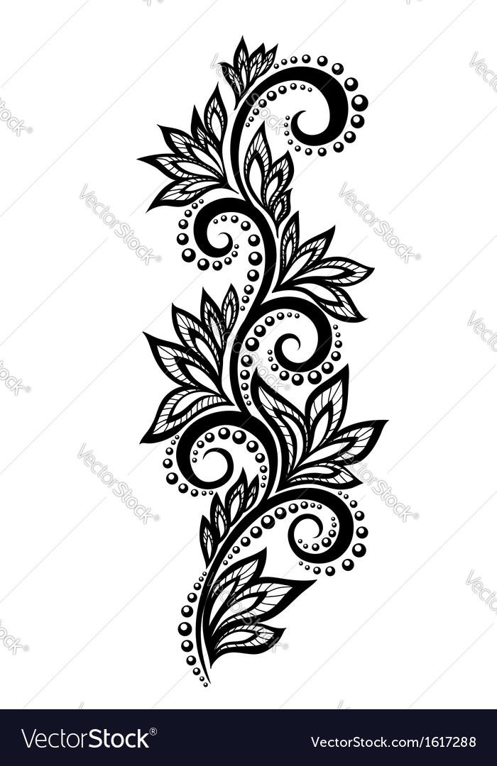 Floral design element effect of lace eyelets vector