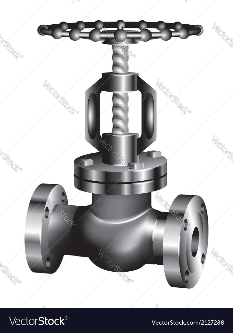 Gray industrial valve vector