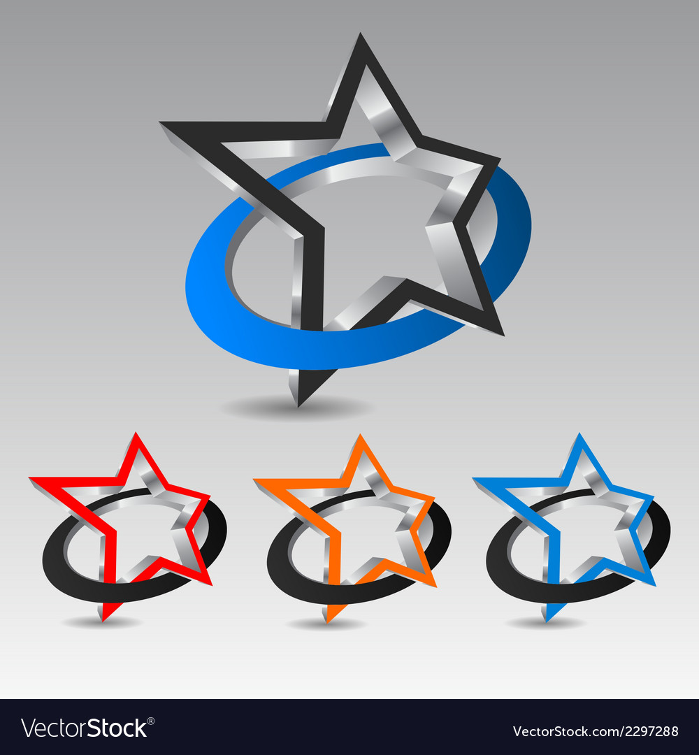 Star with circle vector