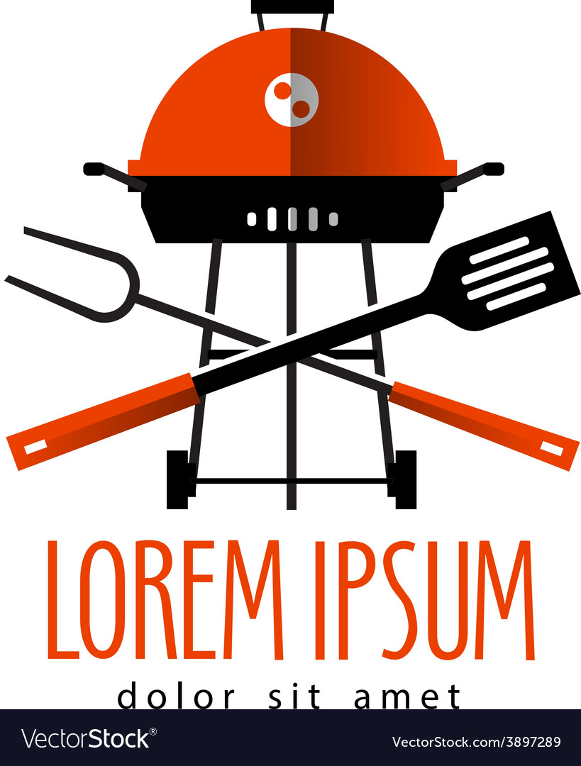 Barbecue logo design template cooking or vector