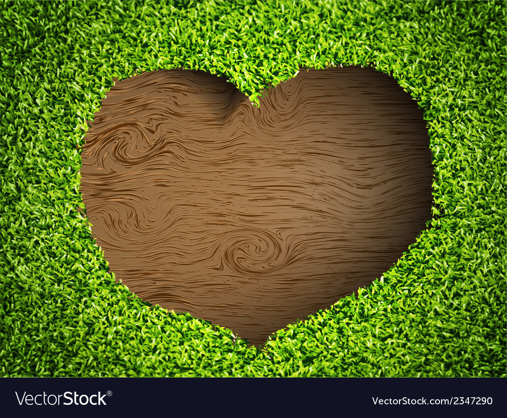 Heart of the grass vector