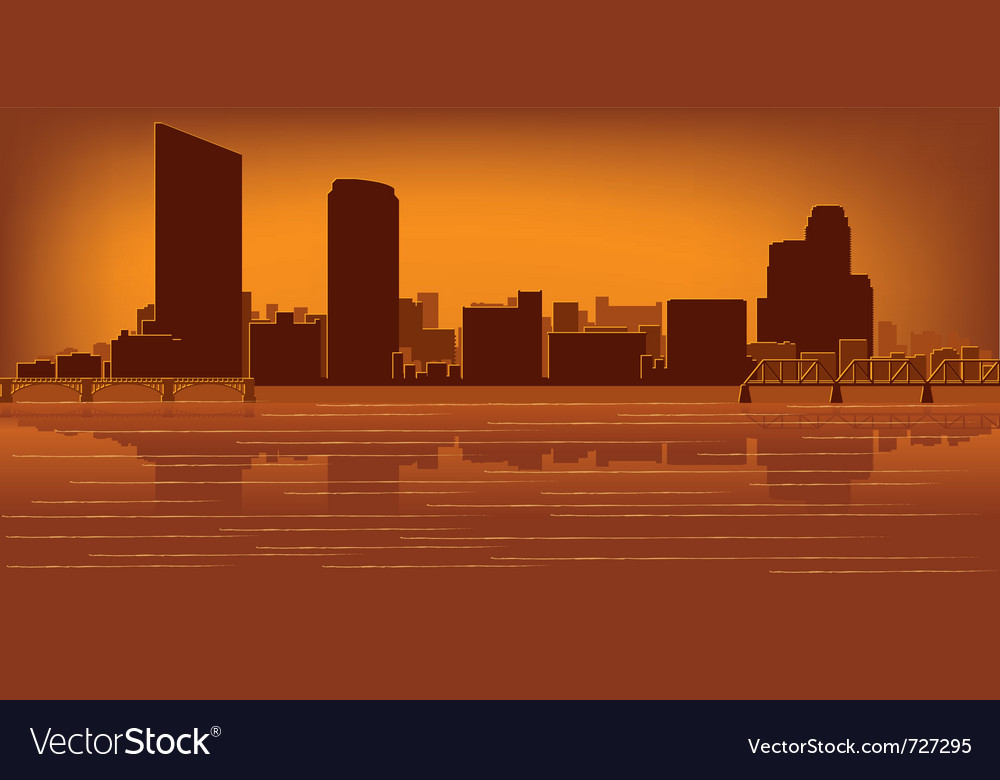 Grand rapids michigan skyline vector