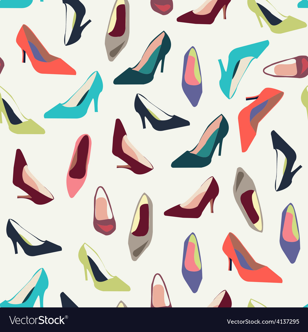 Shoes pattern fashion shoes fashion background vector