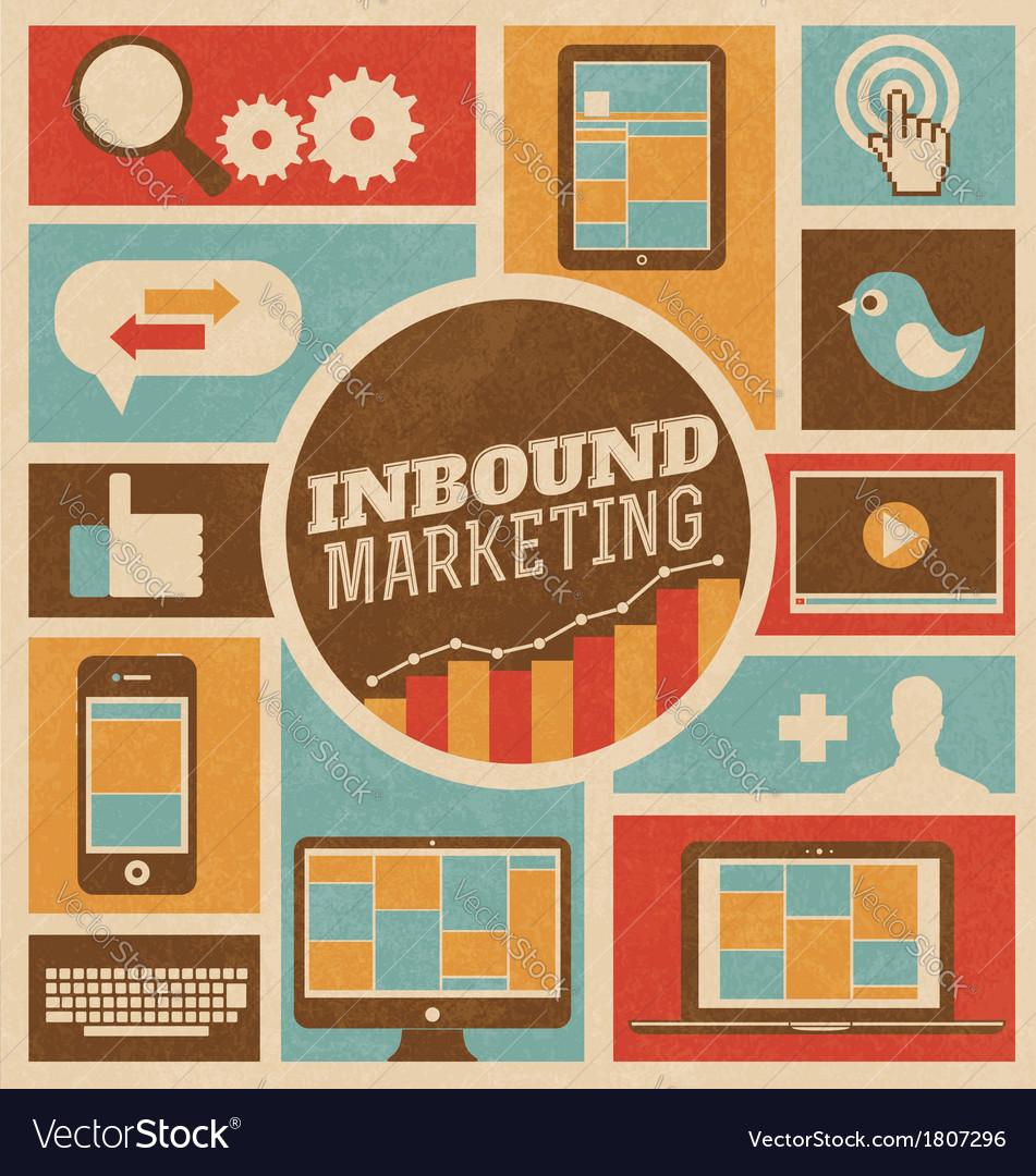 Marketing design vector