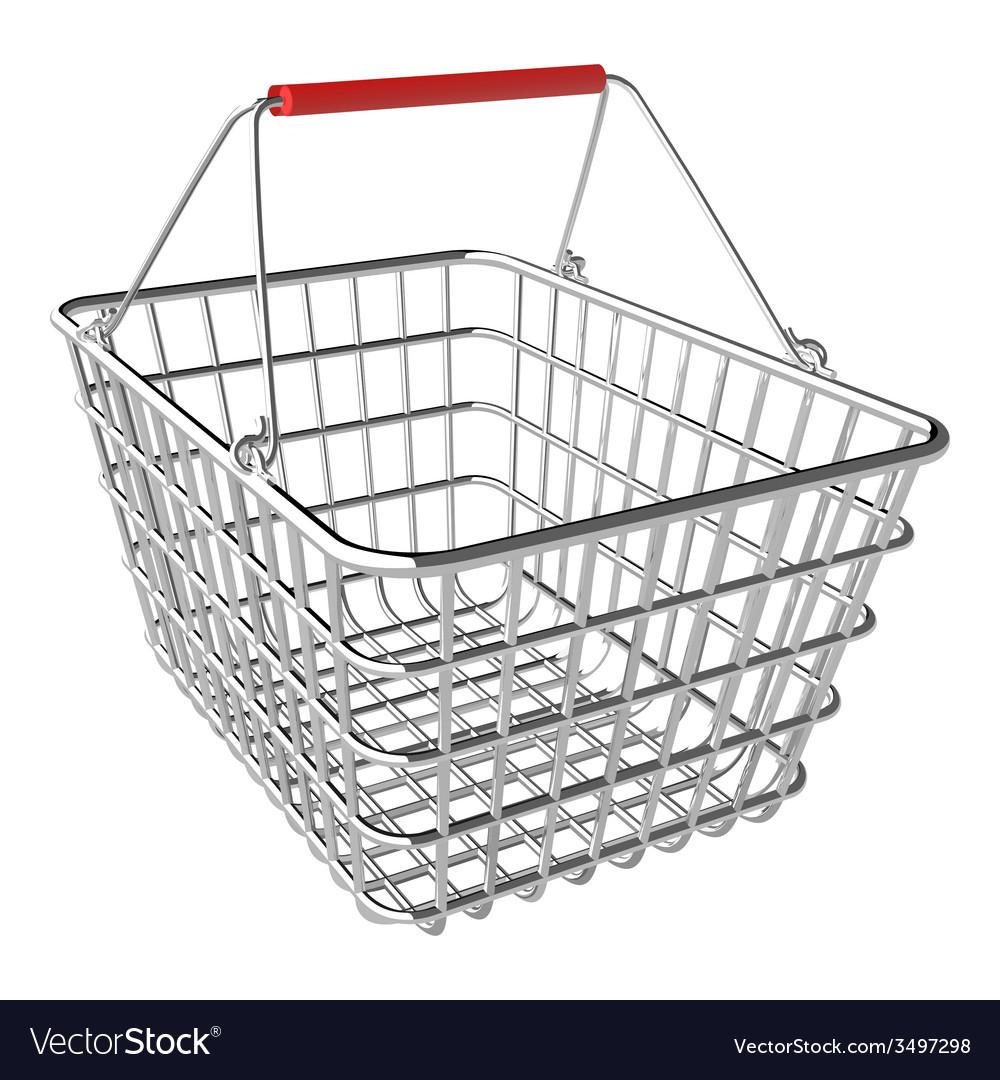 Empty shopping basket vector