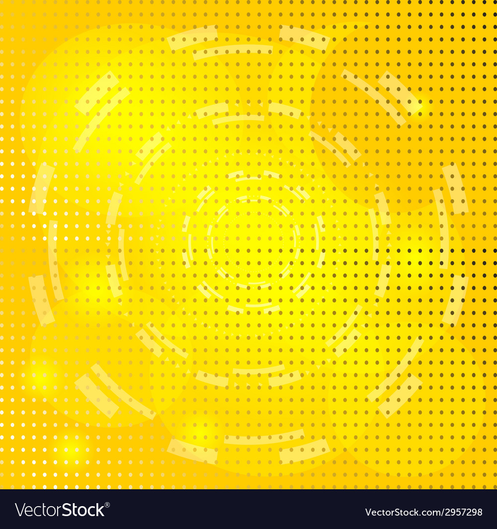 Yellow background with circle vector