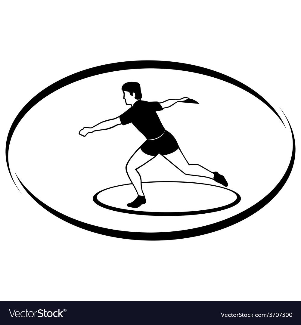 Athletics discus throwing vector