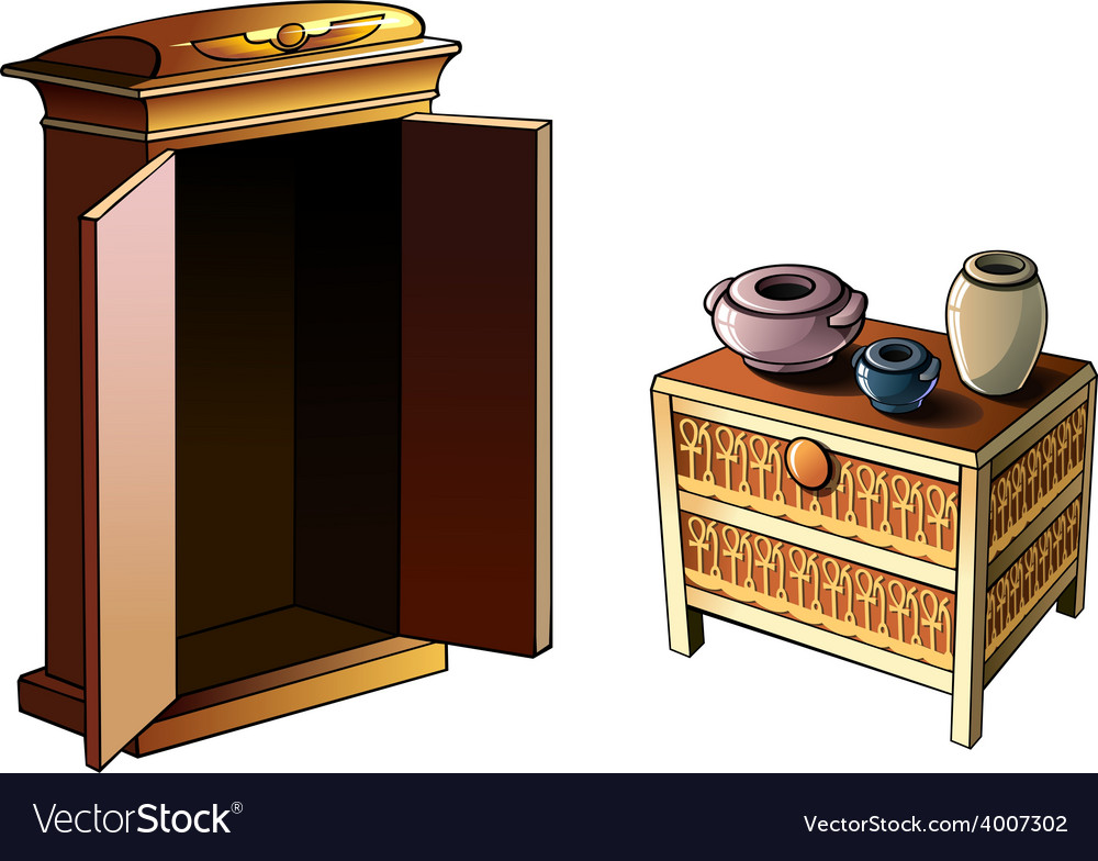 Egyptian furniture vector