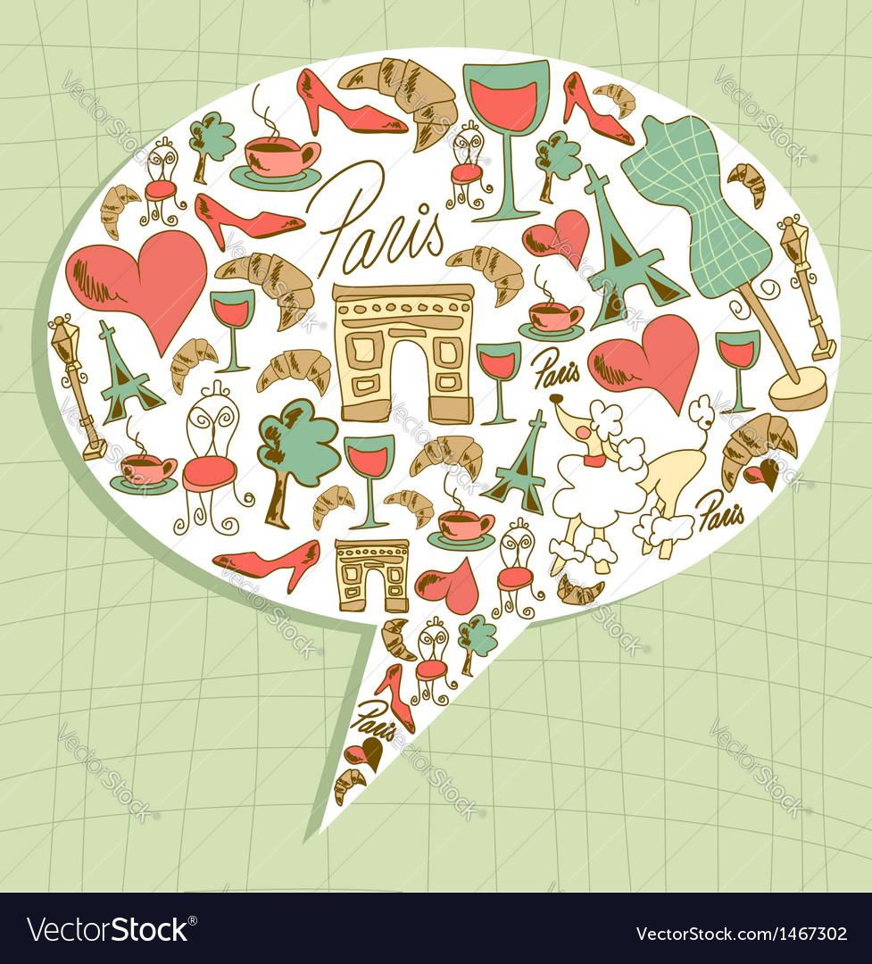 Travel paris communication vector
