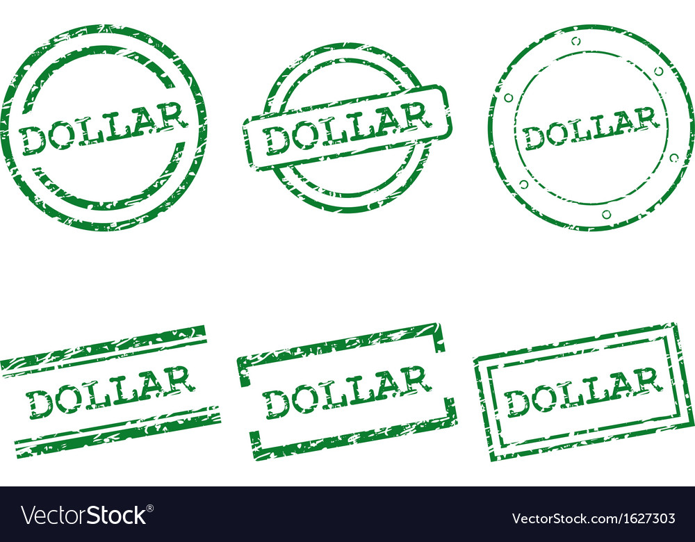 Dollar stamps vector