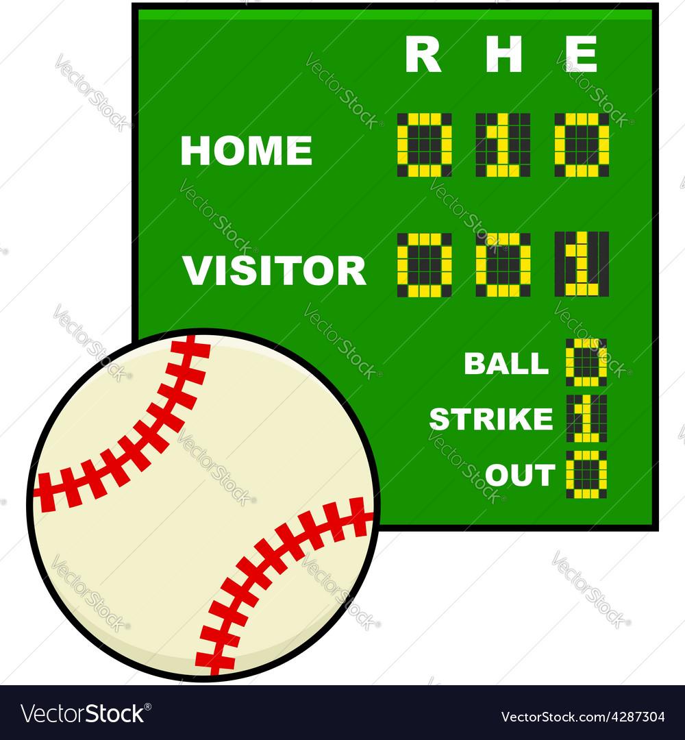 Basic baseball scoreboard vector