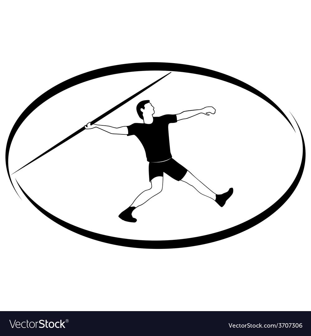 Athletics javelin throwing vector