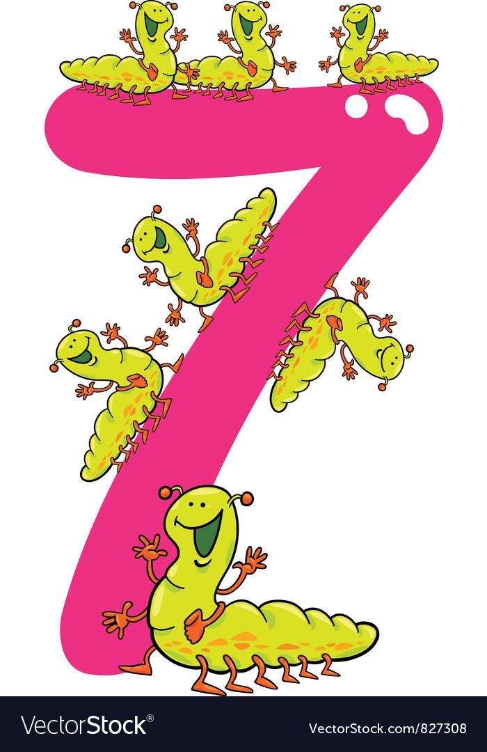 Number seven vector
