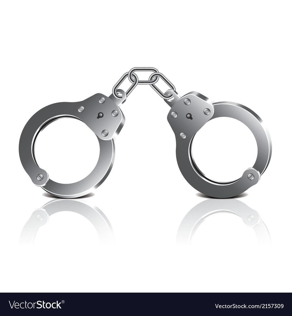 Object handcuffs vector