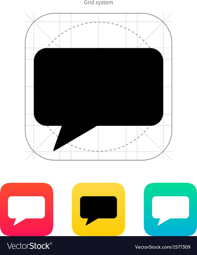 Rectangular bubble icon vector