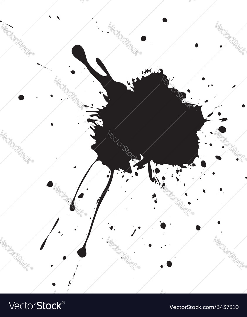 Black splatter vector