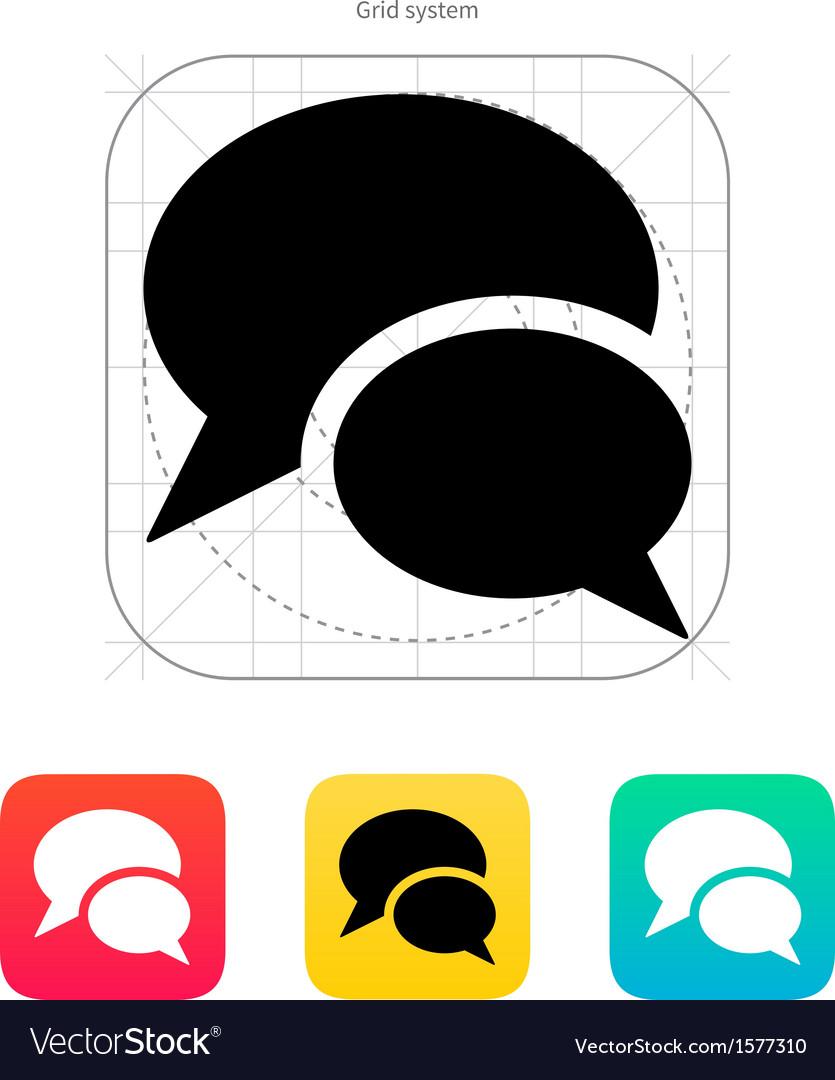 Talk icon vector