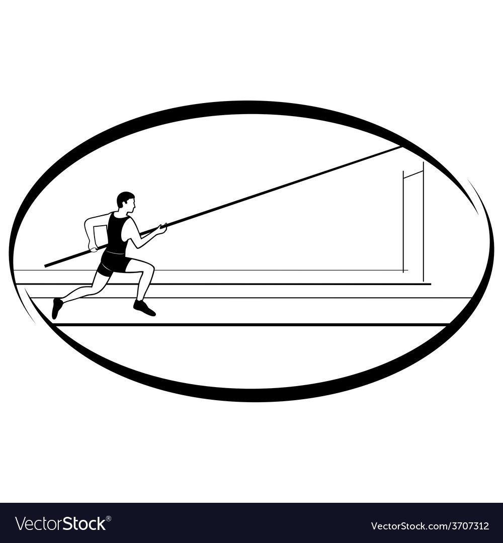 Athletics pole vaulting 1 vector