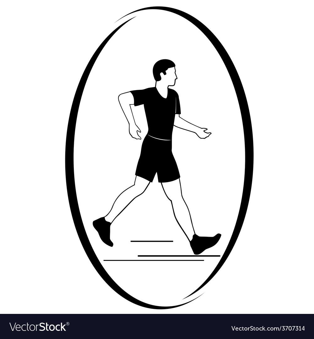 Athletics racewalking vector