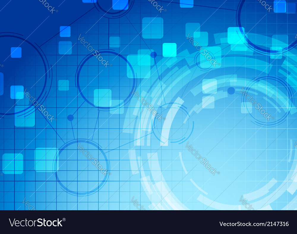 Abstract blue technology connection background vector
