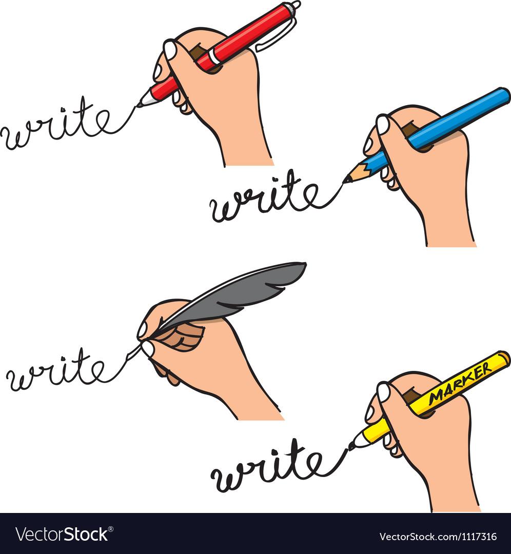 Doodle handwriting vector