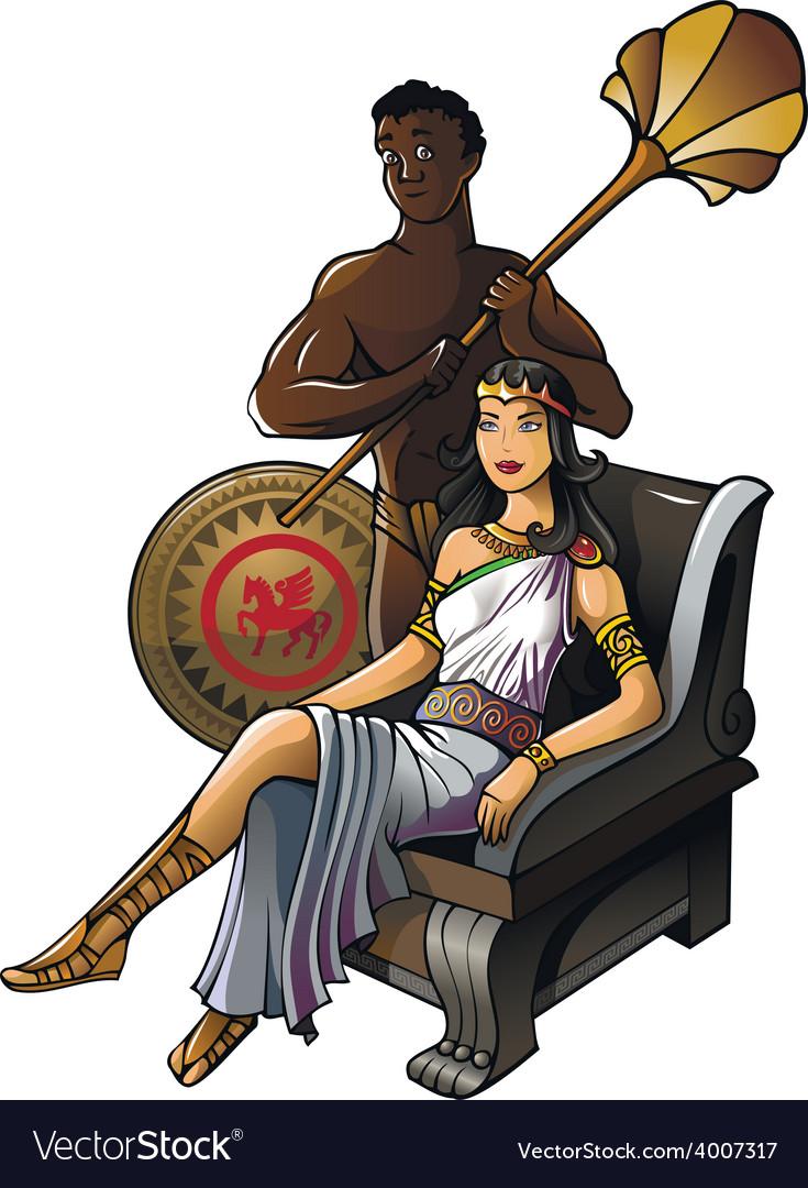 Ancient greek queen vector