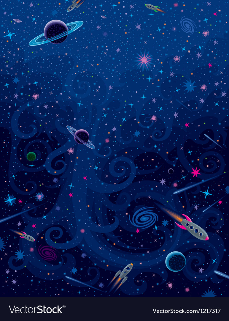 Cosmic bright background vector