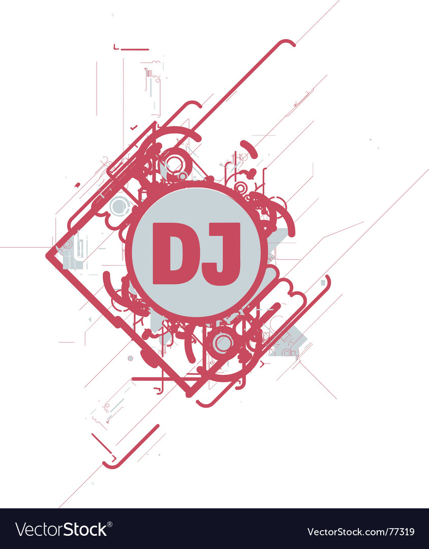 Dj cd cover vector