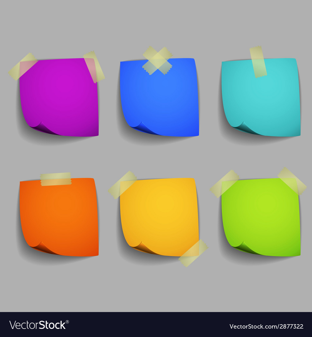 Colored post it notes vector