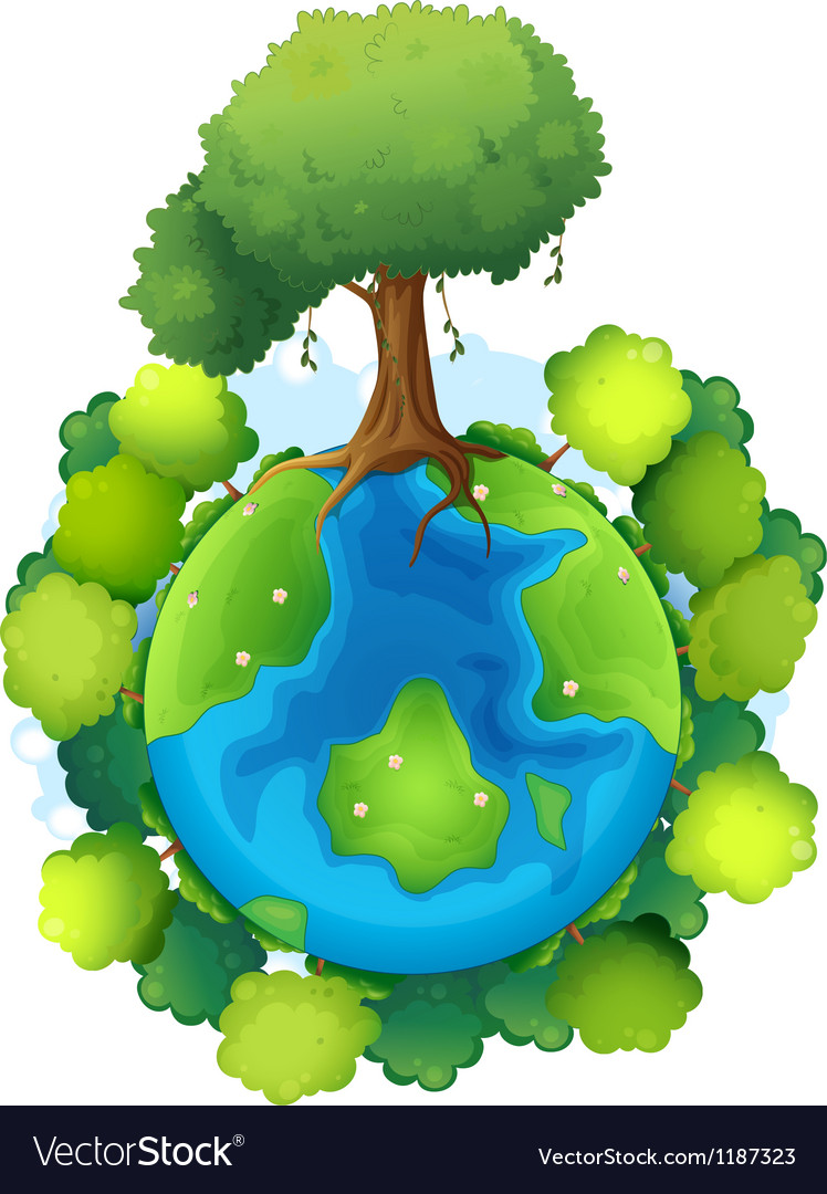 Mother earth vector