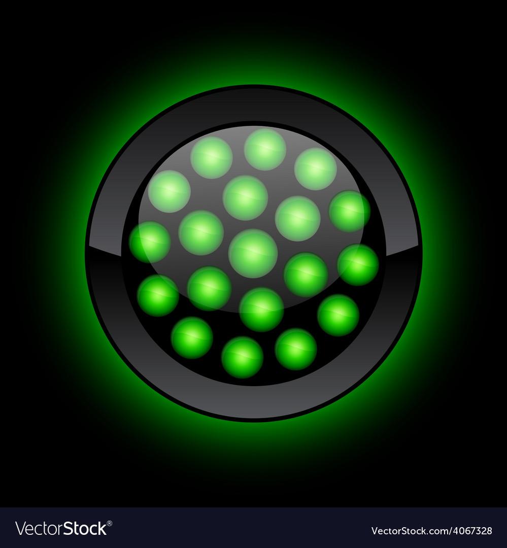 Led button vector