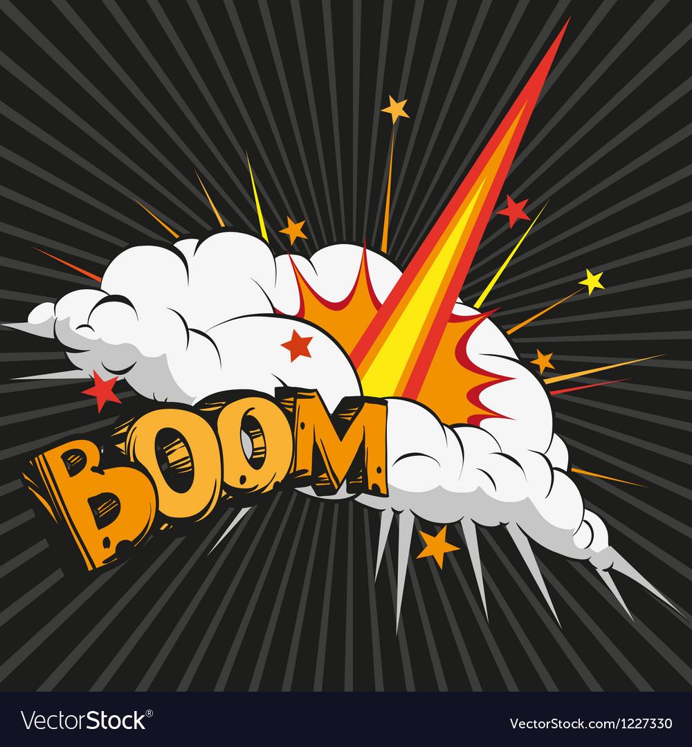 Boom comic book explosion vector