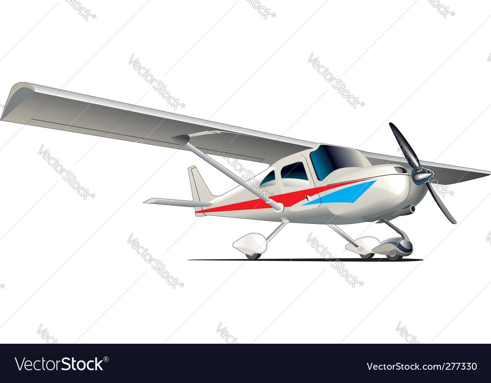 Modern airplane vector