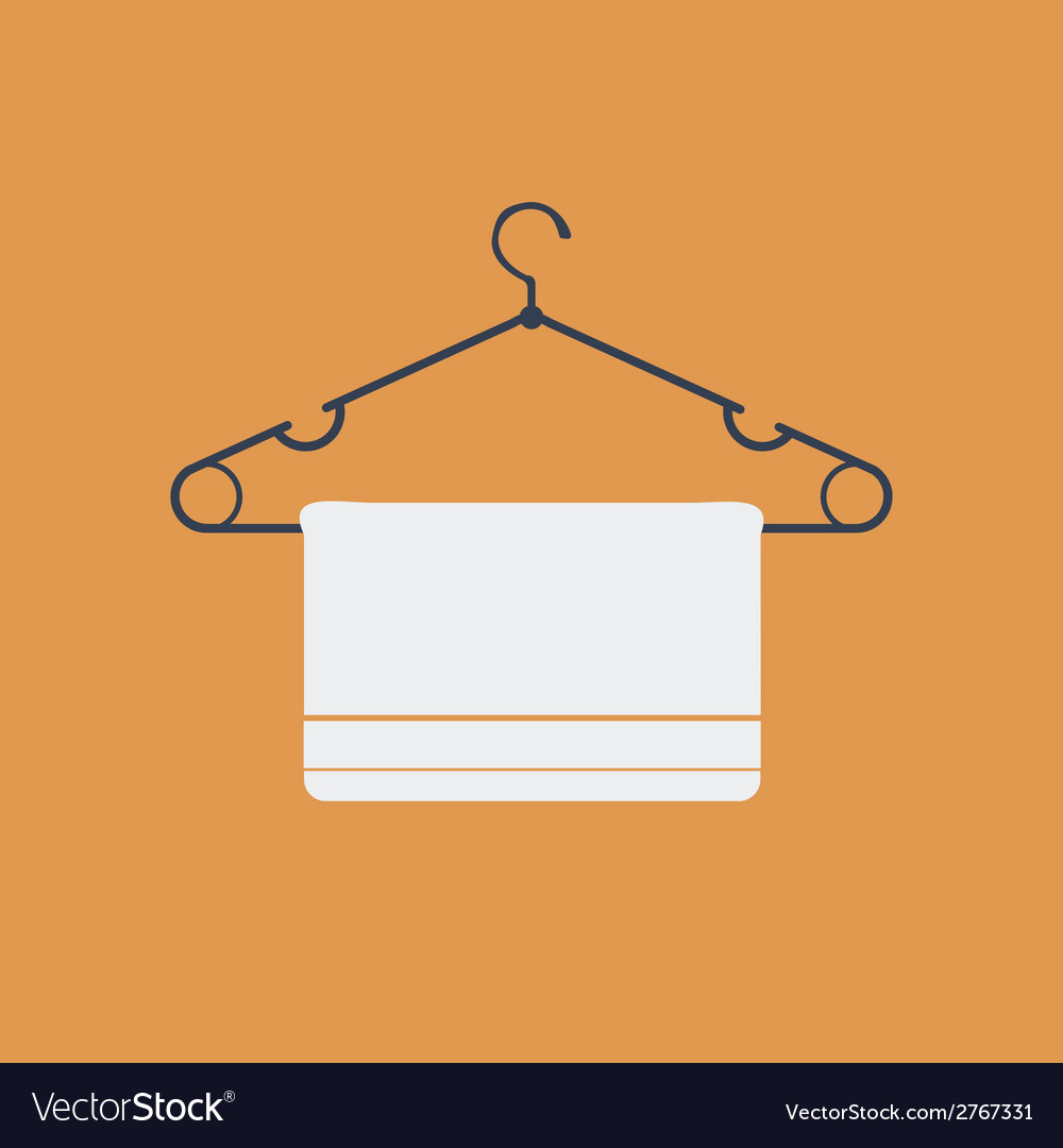 Clothes hanger flat icon vector