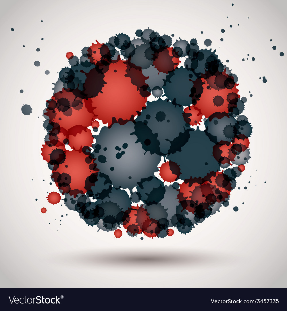Colorful spherical spotted logo decorative icon vector