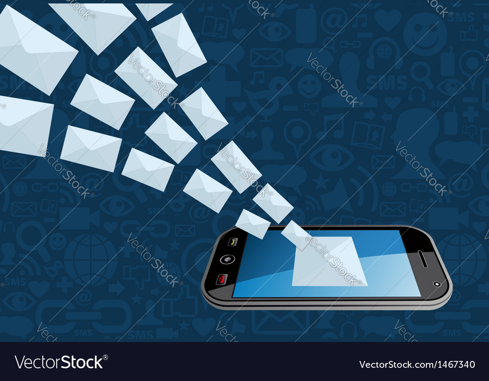 Phone email marketing icon splash vector