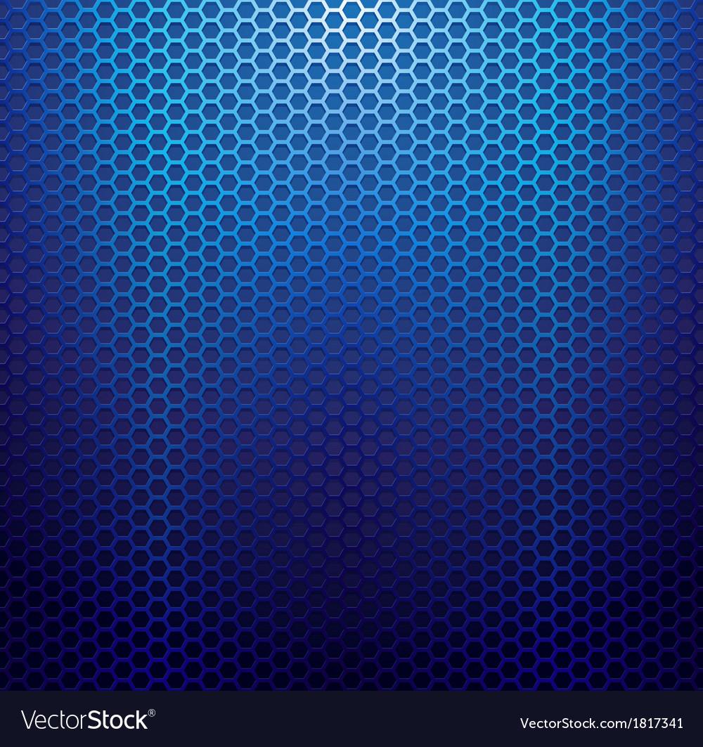 Blue metallic grid background vector