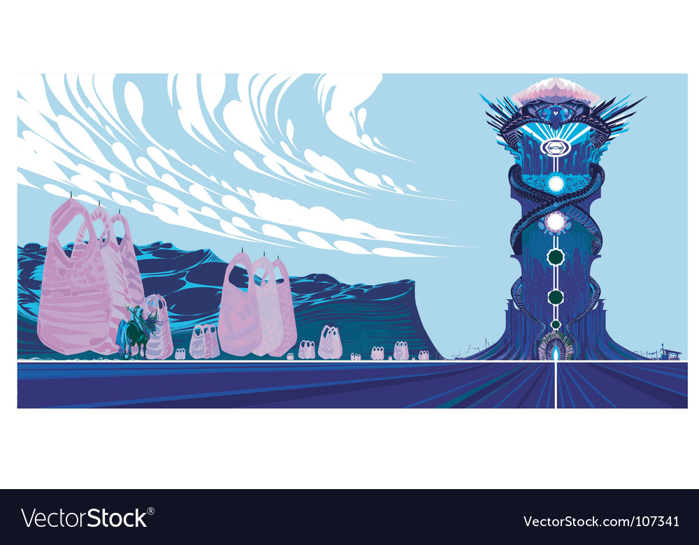The tower of destiny vector
