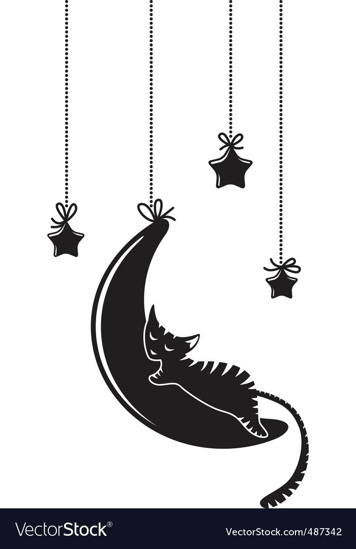 Cat silhouette vector