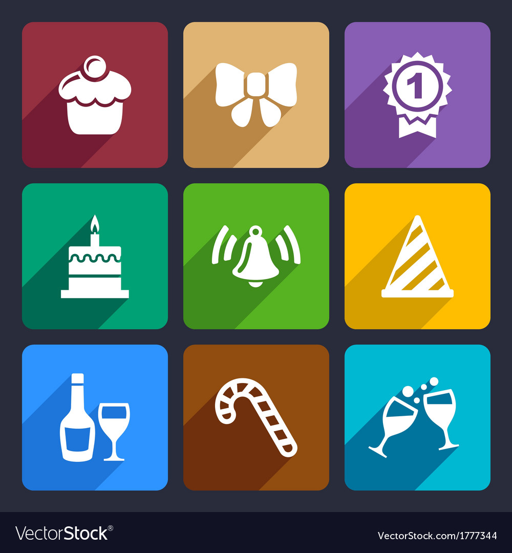 Party and celebration icons set 30 vector